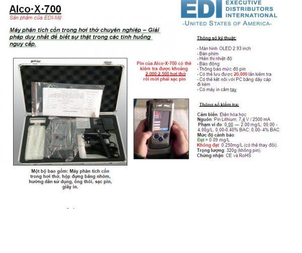 Máy đo nồng độ cồn trong hơi thở ALCO-X-700
